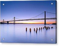Dawn Colors - Bay Bridge Acrylic Print