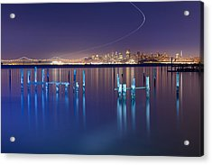 Dawn Colors - Sausalito Acrylic Print by David Yu