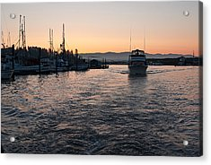 Acrylic Print featuring the photograph Dawn Fishing by Erin Kohlenberg