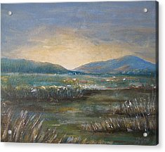 Acrylic Print featuring the painting Dawn by Jane  See
