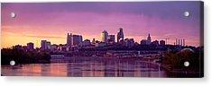 Dawn Kansas City Mo Acrylic Print by Panoramic Images