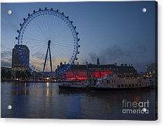 Dawn Light At The London Eye Acrylic Print by Donald Davis