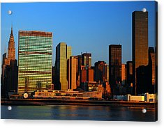 Acrylic Print featuring the photograph Dawn On Manhattan by James Kirkikis