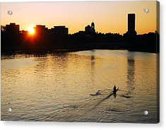 Acrylic Print featuring the photograph Dawn On The Charles by James Kirkikis