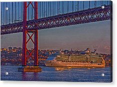 Dawn On The Harbor Acrylic Print by Hanny Heim