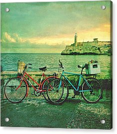 Dawn On The Havana Waterfront Acrylic Print