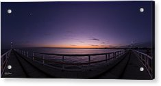 Dawn On The Jetty Acrylic Print by Andrew Dickman