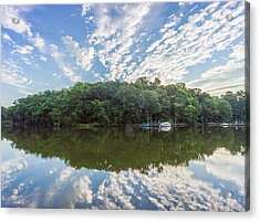 Dawn On The Magothy River Acrylic Print