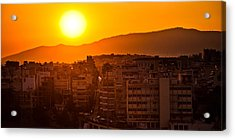Acrylic Print featuring the photograph Dawn Over Athens by Brad Brizek