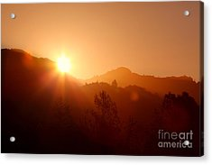 Dawn Over Calistoga Acrylic Print by Posterity Productions