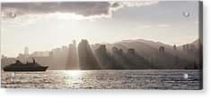 Dawn Over Central Business District Acrylic Print by Panoramic Images