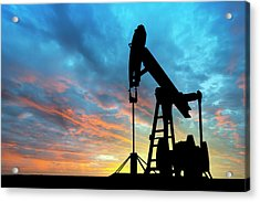 Dawn Over Petroleum Pump Acrylic Print