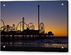 Dawn Over The Pier Acrylic Print