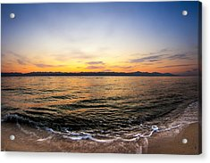 Dawn Over The Red Sea Acrylic Print by Mark E Tisdale