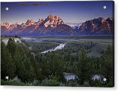 Dawn Over The Tetons Acrylic Print