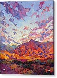 Acrylic Print featuring the painting Dawn Rising by Erin Hanson
