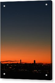 Dawn Sky Over Boston Acrylic Print