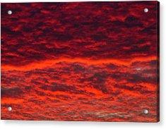 Dawn Sky, Portland, Oregon Acrylic Print by William Sutton
