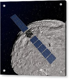 Dawn Spacecraft At Vesta Acrylic Print by Nasa/jpl-caltech