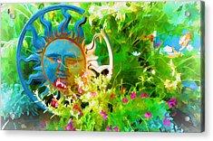 Dawn Sun Across The Garden Acrylic Print