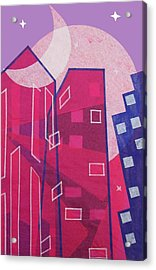 Dawn To Dusk In The City Acrylic Print by Julia and David Bowman