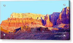 Dawn - Vermillion Cliff And Cathedral Canyon Acrylic Print by Douglas Taylor