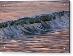 Acrylic Print featuring the photograph Dawn Wave West 73a8019 by David Orias