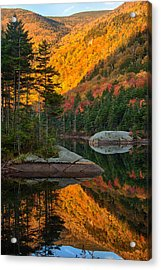 Dawns Foliage Reflection Acrylic Print by Jeff Folger