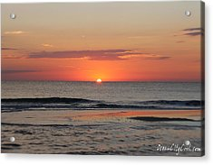 Acrylic Print featuring the photograph Dawn's Waves by Robert Banach