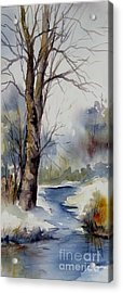 Misty Winter Wood Acrylic Print