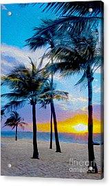 Day At The Beach Acrylic Print by Jon Neidert