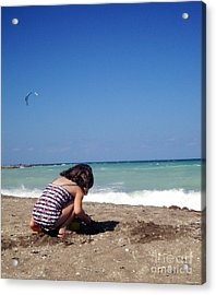 Day At The Beach No6 Acrylic Print by Megan Dirsa-DuBois