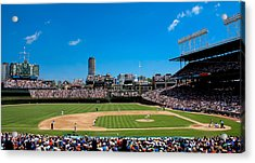 Day Game At Wrigley Field Acrylic Print by Anthony Doudt