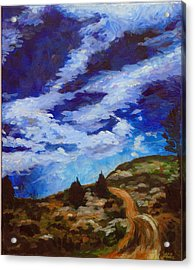 Day Hike Acrylic Print by Susan Moore