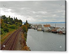 Day Island Bridge View 3 Acrylic Print by Anthony Baatz