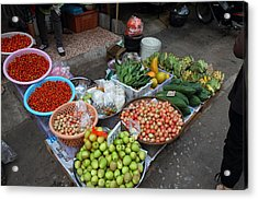 Day Market - Pak Chong Thailand - 01136 Acrylic Print by DC Photographer