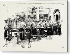 Day Of Atonement, Concluding Service Acrylic Print by Litz Collection