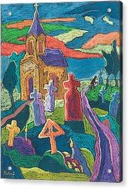 Day Of The Dead, 2006 Pastel On Paper Acrylic Print by Marta Martonfi-Benke