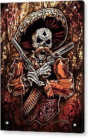 Day Of The Dead Gunslinger Acrylic Print by Michael Spano