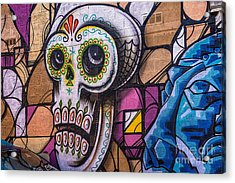 Acrylic Print featuring the mixed media Day Of The Dead Mural by Terry Rowe