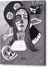Day Of The Dead Acrylic Print by Reba Baptist