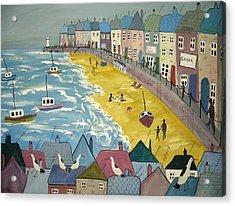 Day On The Beach Acrylic Print by Trudy Kepke