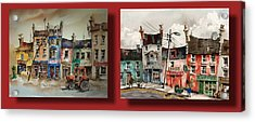 Day To Day Ennistymon Clare Acrylic Print by Val Byrne