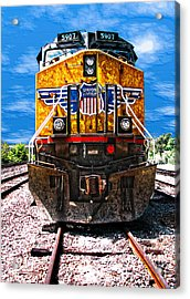Day Train Acrylic Print by Wendy J St Christopher