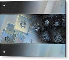 Snowflake Collage - Daybreak Acrylic Print by Alexey Kljatov