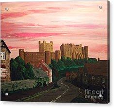 Daybreak At Bamburgh Acrylic Print