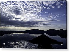 Daybreak At Crater Lake Acrylic Print