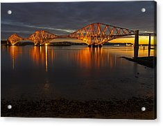 Daybreak At The Forth Bridge Acrylic Print