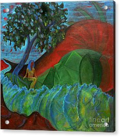 Acrylic Print featuring the painting Uncertain Journey by Elizabeth Fontaine-Barr