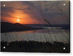 Daybreak On Glen Lake Acrylic Print